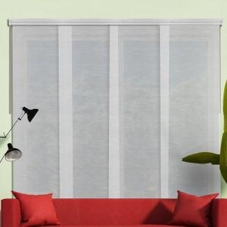 Persiana vertical de oscurecimiento de habitación con panel deslizante (juego de 4)