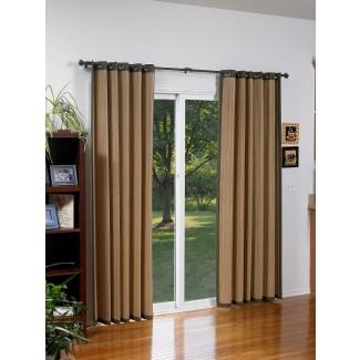 Cortinas de bambú para puertas corredizas de vidrio | Tratamientos para ventanas ...