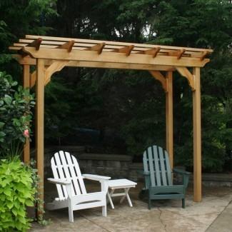 Cedar New Dawn 12 Ft. Ancho x 4 pies D Pérgola de madera maciza
