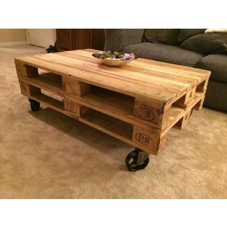 Mesa de centro con ruedas. Galería de paletas de madera ...