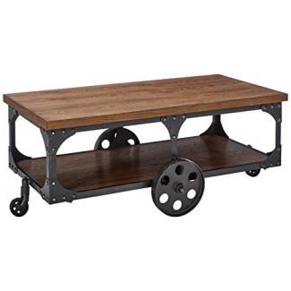 Mesa de centro de muebles Coaster con ruedas