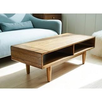 Mesa de centro Haven Home Dexter Mid-Century - Nogal - Mesa de sofá rectangular