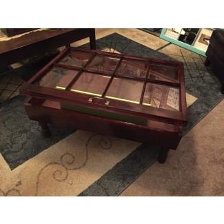Mesa de café rústica - mesas de café rústicas - caja de sombra