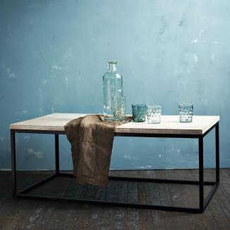 Mesa de centro con marco de cuadro - Whitewash   west elm UK