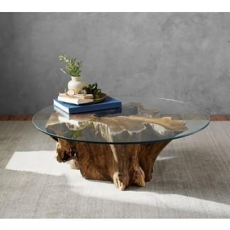 Mesa de centro de madera flotante   Pottery Barn