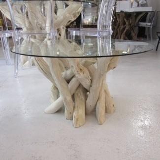mesita redonda de madera flotante 40cm de alto por karen miller ...