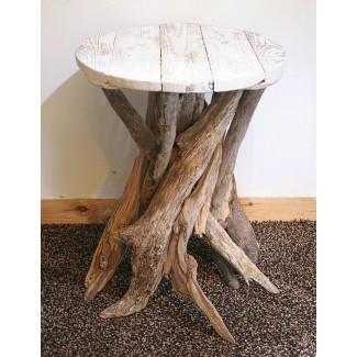 Mesa de centro de madera flotante, Mesa auxiliar de madera de deriva, ... - Folksy