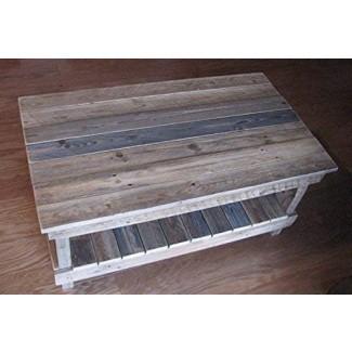 Reclaimed Plank Top Coffee Table. envío incluido