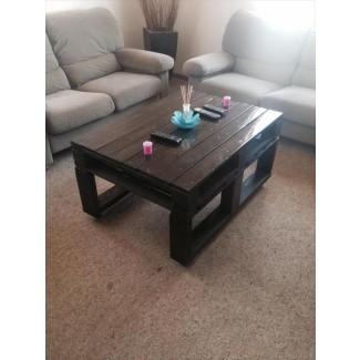 Mesa de centro de palets de madera con ruedas | Muebles de paletas