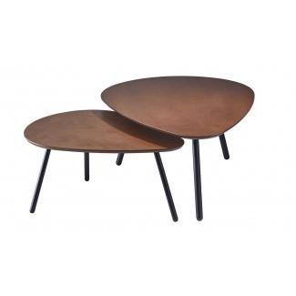 Juego de mesa de café de 2 piezas Irvin Nesting