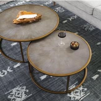 Juego de mesa de café Demarcus de 2 piezas