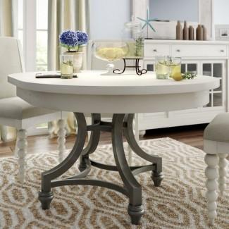 Mesa de comedor redonda blanqueada   Shelby Knox