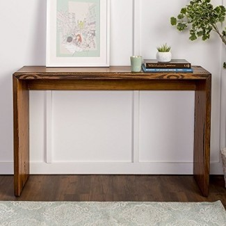 WE Furniture Reclaimed Wood Entry Table in Amber