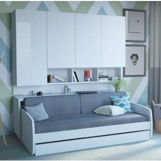 Rincón compacto completo / cama doble Murphy