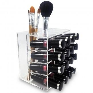 Lipstick Rack Storage Display Organizador cosmético de maquillaje
