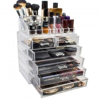 Organizador cosmético de maquillaje y joyería