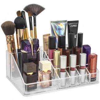 Organizador cosmético de maquillaje mediano de sección