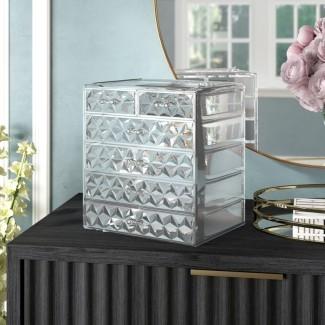 Organizador cosmético de maquillaje Whisnant Diamond Pattern