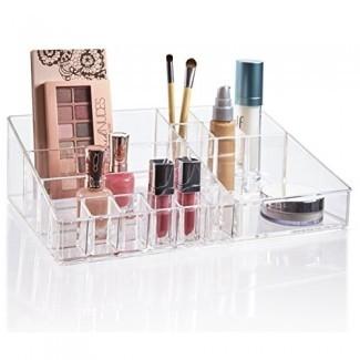 STORi Organizador de paleta de cosméticos y maquillaje de plástico transparente de alta calidad   Colección Audrey