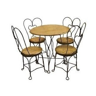 Amazon.com: Juego de mesa y sillas de heladería: cocina