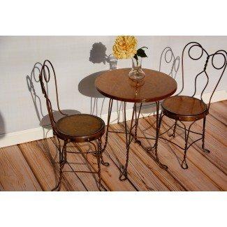 Mesa y sillas vintage para heladerías para niños