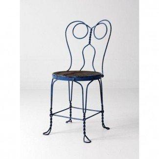 Silla vintage azul para heladería | Chairish