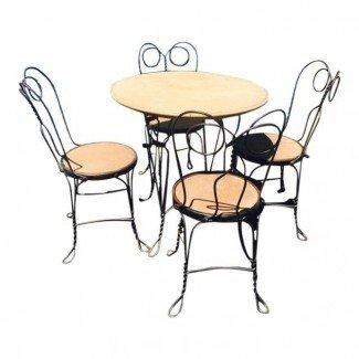 Juego de sillas y mesa para heladerías de 1930 | Chairish