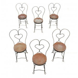 Conjunto de seis sillas de heladería: EBTH