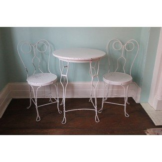 silla de mesa vintage para heladería de VintageChicFurniture