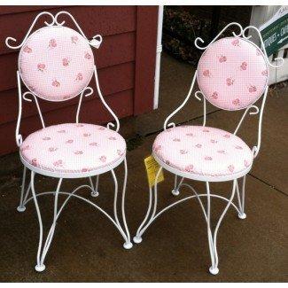 Summer ClearancePar de sillas de heladería Vintage