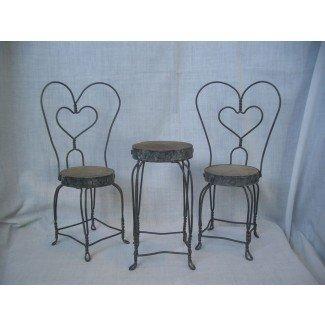 Mesa y sillas Vintage Doll 39 S Ice Cream Parlor