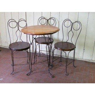 Conjunto de heladería Chicago Wire Chair: lote 208