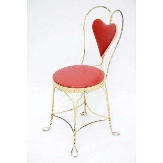 Conjunto de 4 sillas antiguas de heladería en 1stdibs