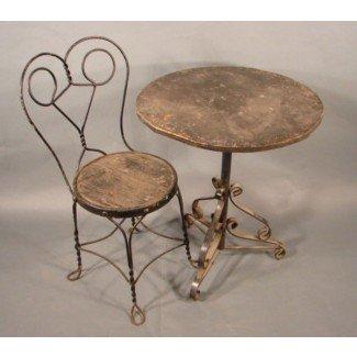 Mesa y sillas antiguas de heladería | Muebles antiguos
