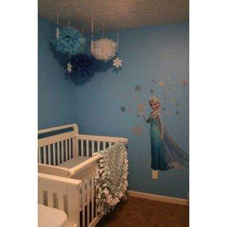 25 lindas ideas de decoración de habitaciones temáticas congeladas que tus hijos querrán