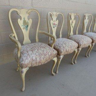 Sillas de comedor antiguas francesas Shabby Chic Chairs Antique ...