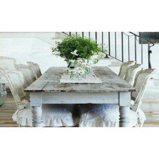 Shabby Chic mesa de comedor y sillas. Shabby Chic Pine ...
