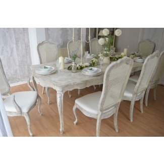 Cool Shabby Chic Dining Table And Chairs White Dining ...