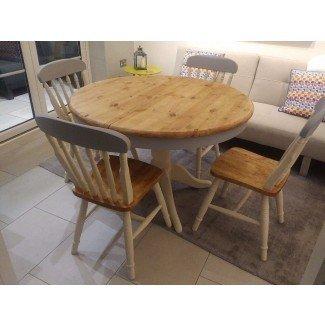 Las 50 mesas y sillas redondas Shabby Chic redondas -