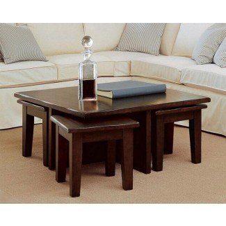 Mesa de centro con 4 taburetes | Ideas de diseño de mesa de café