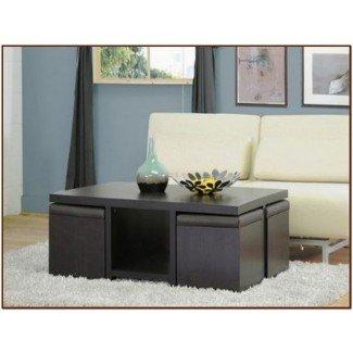 Mesa de centro con taburetes para su hogar - Para el café