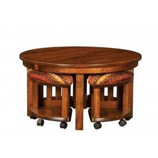 12 variedades de mesas de café redondas con taburetes debajo ...