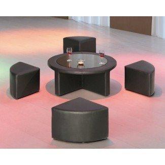 ¡Diseños modernos de la mesa de café con taburete! El | Habitación