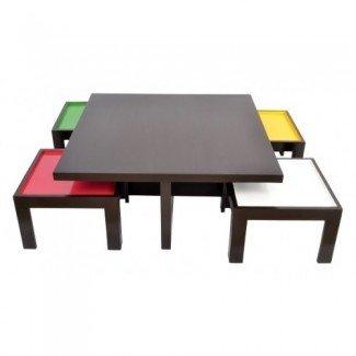 Mesa de centro: Mesa de centro con taburetes Mesa de centro con ...