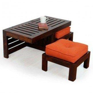 ¡Diseños modernos de la mesa de café con taburete! - Decor10