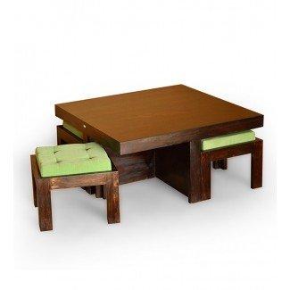 Mesa de centro Basil Trendy con 4 taburetes @ 12999 de