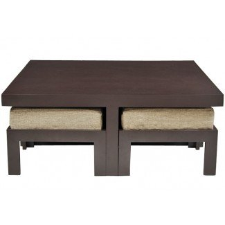 Mesa de centro: ideas desconcertantes de la mesa de café con taburetes ...