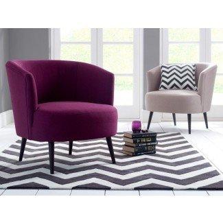 Muebles: cómodas sillas para el dormitorio del Reino Unido con cómodo púrpura