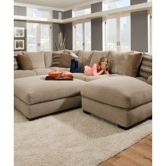 Sofá composable extra grande con chaisel   SOFAS Y FUTONES