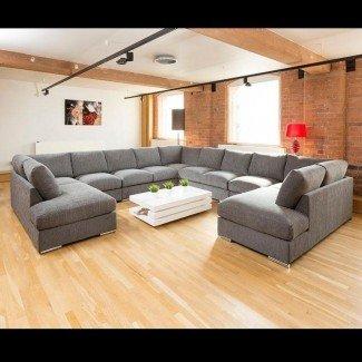 Conjunto de sofá exclusivo extra grande Settee Corner Group C Shape